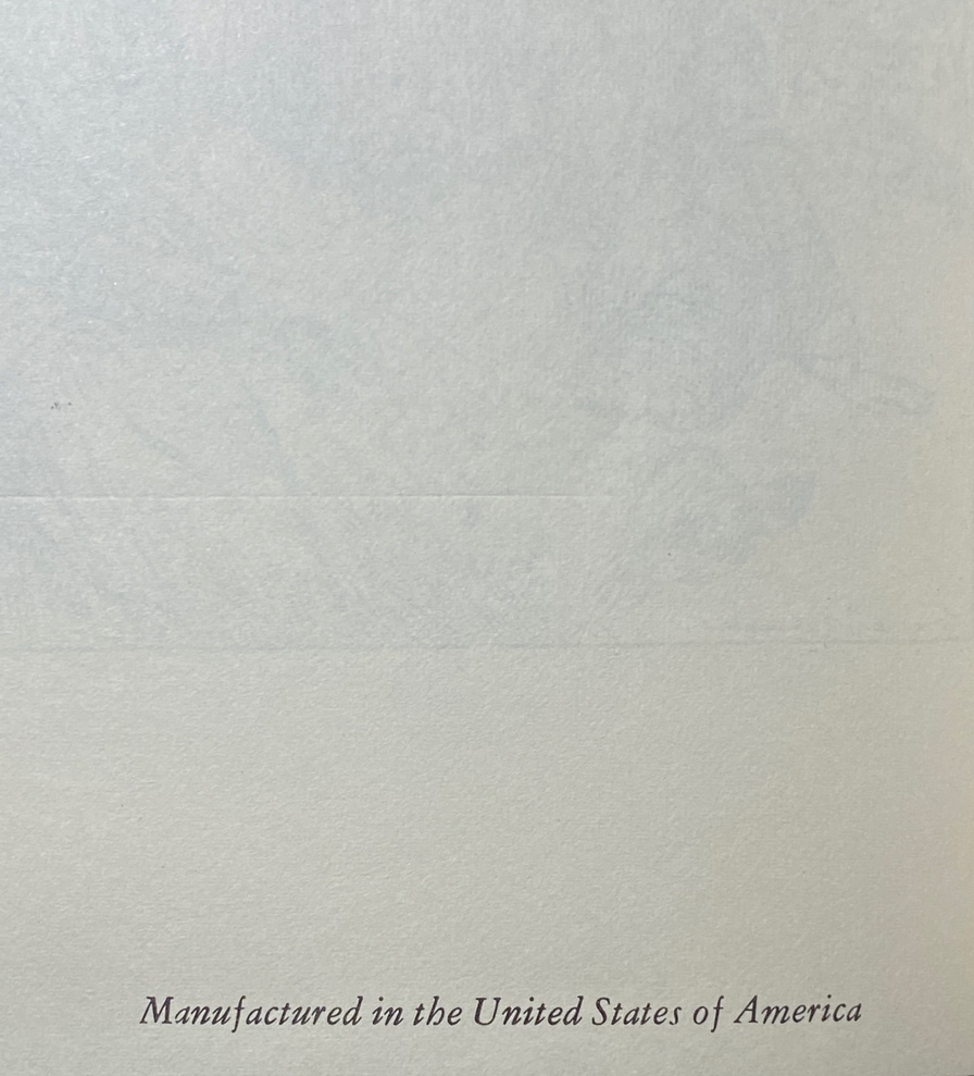 End page saying it was manufactured in the USA